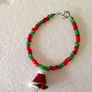 Santa Hat Child bracelet Handmade New Christmas
